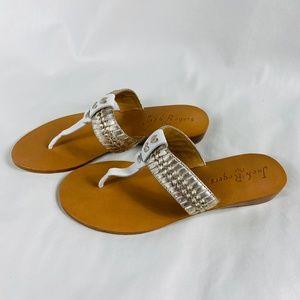 NEW - Jack Rogers Tinsley Demi Wedge Thong Sandal